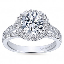 Gabriel & Co 14k White Gold Round Halo Engagement Ring - ER4112W44JJ