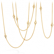 18k Gold Optima Station Necklace