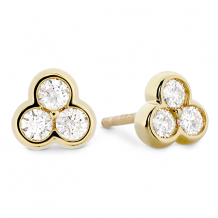 18k Gold Effervescence Diamond Stud Earrings