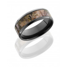 Lashbrook Zirconium Camo Beveled Wedding Band - Z8B15(NS)_KINGSMOUNTAINSHADOW