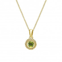 Gabriel & Co. 14K Yellow Gold Secret Garden Peridot Necklace NK1690Y4JPE