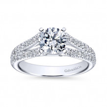 Gabriel & Co 14k White Gold Round Split Shank Engagement Ring - ER6666W44JJ