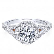 Gabriel & Co 14k White Gold Fiona Diamond Engagement Ring - ER12834R3T44JJ