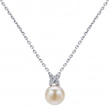 Gabriel & Co. 14K White Gold Grace Pearl Necklace NK1228W45PL