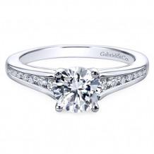 Gabriel & Co. 14k White Gold Round Straight Engagement Ring - ER12324R3W44JJ
