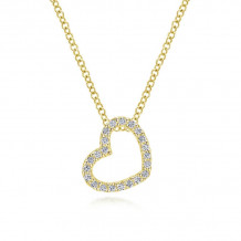 Gabriel & Co. 14k Yellow Gold Eternal Love Gold Necklace - NK2239Y45JJ