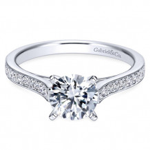Gabriel & Co. 14k White Gold Round Straight Engagement Ring - ER7444W44JJ