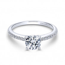 Gabriel & Co. 14k White Gold Round Straight Engagement Ring - ER7973W44JJ