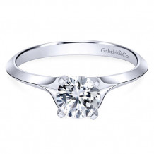 Gabriel & Co. 14k White Gold Round Solitaire Engagement Ring - ER11832R3W4JJJ