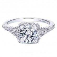 Gabriel & Co. 14k White Gold Entwined Diamond Halo Engagement Ring - ER12670R4W44JJ