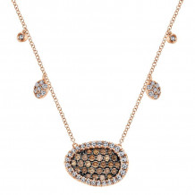 Gabriel 14K Rose Gold Lusso Color Champagne Diamonds Necklace NK4946K45CD