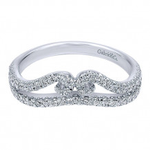Gabriel & Co 14k White Gold Round Curved Anniversary Band - AN11004W44JJ