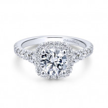 Gabriel & Co 14k White Gold Hazel Diamond Engagement Ring - ER12761R4W44JJ