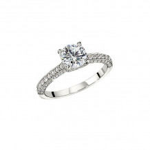 Peter Storm 14k White Gold Love Songs Engagement Ring