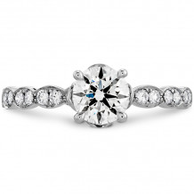 Hearts on Fire 18k White Gold Lorelei Diamond Straight Engagement Ring - HBSDFL00208WC-C