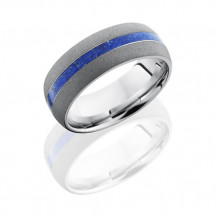 Lashbrook Camo Cobalt Chrome Domed Wedding Band - CC8D12_LAPIS_SAND
