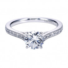 Gabriel & Co. 14k White Gold Round Straight Engagement Ring - ER7222W4JJJ