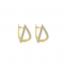 Gabriel & Co. 14k Yellow Gold Diamond Earrings - EG13174Y45JJ
