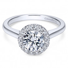 Gabriel & Co. 14k White Gold Round Halo Engagement Ring - ER7265W44JJ