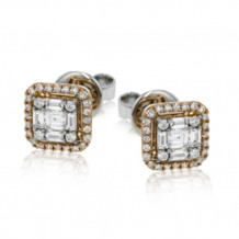 Simon G. 18k Rose Gold Diamond Earrings