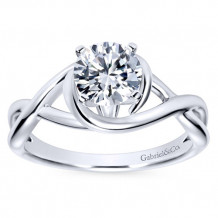 Gabriel & Co 14k White Gold Round Twisted Engagement Ring - ER9179W4JJJ