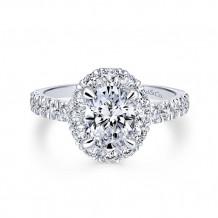 Gabriel & Co 14k White Gold Sutton Diamond Engagement Ring - ER12647O4W44JJ