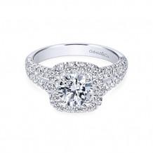 Gabriel & Co. 14k White Gold Round Halo Engagement Ring - ER10252W44JJ
