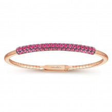 Gabriel & Co. 14k Rose Gold Demure Bangle Bracelet - BG3894-65K4JRA