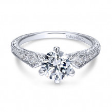 Gabriel & Co 14k White Gold Ava Diamond Engagement Ring - ER11839R4W44JJ