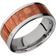 Lashbrook Titanium Inlay of Leopard Wood Band - HW8F16_LEOPARD