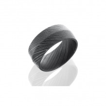 Lashbrook Damascus Steel Camo Peaked Wedding Band - D10P_ACID