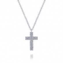 Gabriel & Co. 14k White Gold Faith Pendant Crosses - NK5999W45JJ