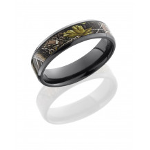 Lashbrook Zirconium Camo Flat Wedding Band - Z6B14(NS)_RTAPG