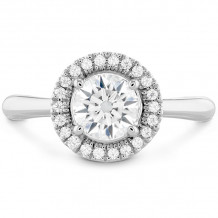 Hearts on Fire 18k White Gold Destiny Diamond Halo Engagement Ring - HBSDSTH00108WC-C