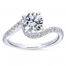 Gabriel & Co 14k White Gold Round Bypass Engagement Ring - ER7232W44JJ