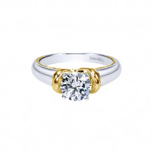 Gabriel & Co. 14k Two Tone Gold Diamond Solitaire Engagement Ring - ER9023M4JJJ