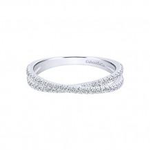 Gabriel & Co. 14k White Gold Diamond Stackable Ladies' Ring - LR51169W45JJ