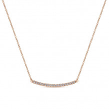 Gabriel & Co. 14k Rose Gold Lusso Diamond Necklace - NK4273K45JJ