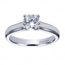 Gabriel & Co 14k White Gold Round Solitaire Engagement Ring - ER6583W4JJJ