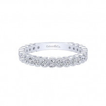 Gabriel & Co. 14k White Gold Diamond Stackable Ladies' Ring - LR5139W45JJ