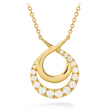 18k Gold Optima Double Circle Necklace