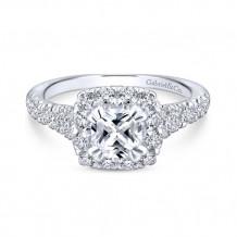 Gabriel & Co 14k White Gold Eliana Diamond Engagement Ring - ER12835C4T44JJ