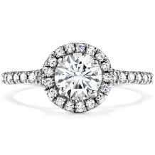 Hearts on Fire 18k White Gold Transcend Diamond Halo Engagement Ring - HBSTCR00408WC-C