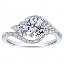 Gabriel & Co 14k White Gold Diamond Engagement Ring - ER5330W44JJ