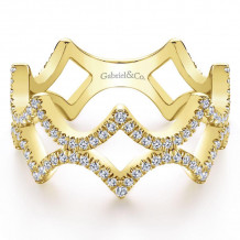 Gabriel & Co. 14k Yellow Gold Stackable Ring - LR51184Y45JJ