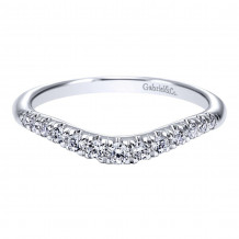 Gabriel & Co. 14k White Gold Contemporary Curved Wedding Band - AN10963W44JJ
