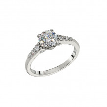 Peter Storm 18k White Gold Semi Mounts Engagement Ring