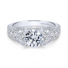 Gabriel & Co. 14k White Gold Entwined Straight Engagement Rings - ER12814R4W44JJ