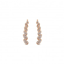 Gabriel & Co. 14k Rose Gold Lusso Earcuffs - EG12934K45JJ