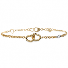 18k Gold Lorelei Interlocking Heart Bracelet